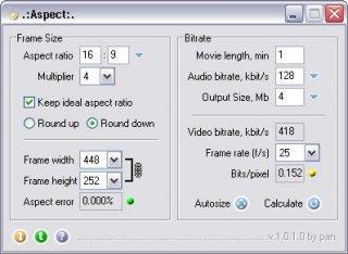 Attention le bouton jaune à côté de Bits/pixel indique que la video va être de qualité moyenne.